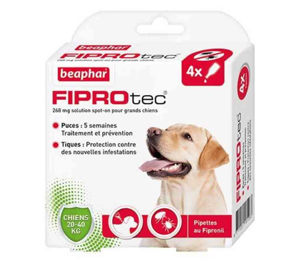 Fiprotec chien 20-40 kg 4 pipettes