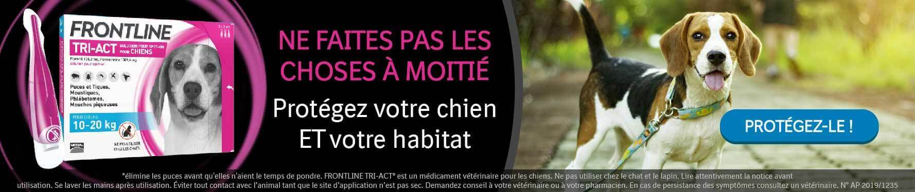 Antiparasitaires Frontline Tri-Act pour chien