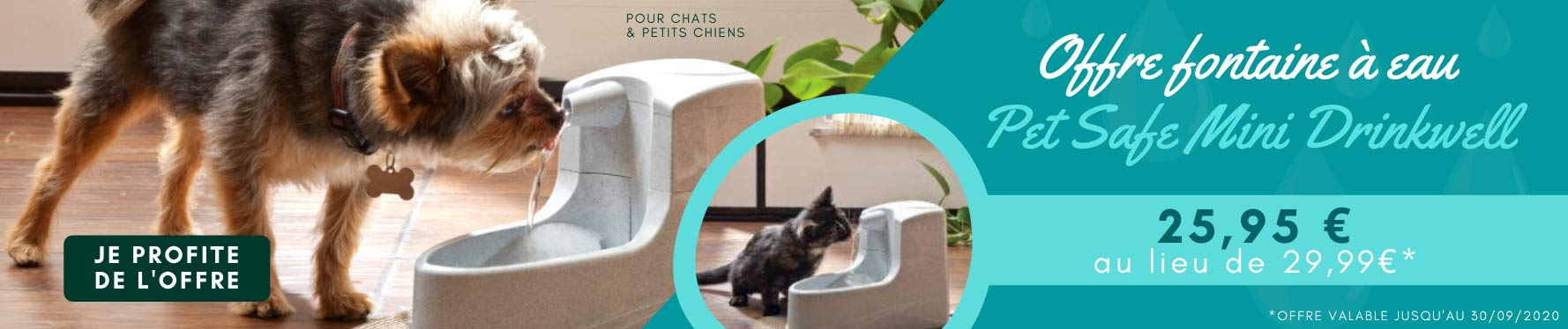 Offre Fontaine Pet Safe Mini Drinkwell