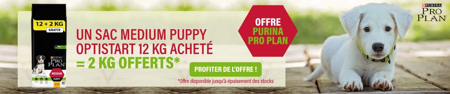 Offre Purina Proplan Puppy Mars