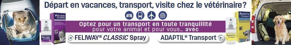 Offre Transport : Adaptil & Feliway
