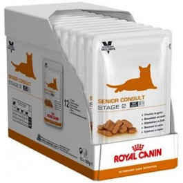 Royal Canin Vet Care Nutrition Cat Senior Consult Stage 2 12x100 grs - La Compagnie Des Animaux