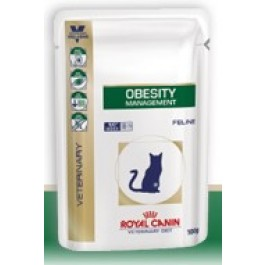 Royal Canin Veterinary Diet Cat Obesity Sachet 12 x 100 grs - La Compagnie Des Animaux