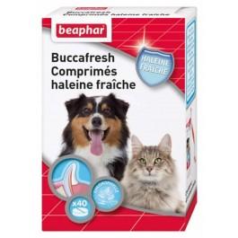 Beaphar Buccafresh, comprimés haleine fraîche pour chien et chat 40 cps - La Compagnie Des Animaux