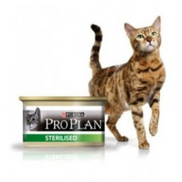 Purina Proplan Cat Sterilised Saumon 24 x 85 grs - La Compagnie Des Animaux