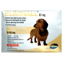 Eliminall Chien 2-10kg 6 pipettes (générique Frontline) - La Compagnie Des Animaux