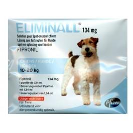 Eliminall Chien 10-20kg 6 pipettes (générique Frontline) - La Compagnie Des Animaux