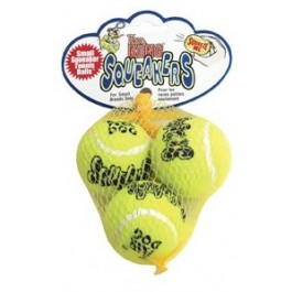Kong Air Squeaker Tennis Ball Small (par 3) - La Compagnie Des Animaux