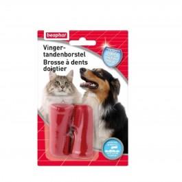 Beaphar Brosse à dents doigtier x 2 - La Compagnie Des Animaux