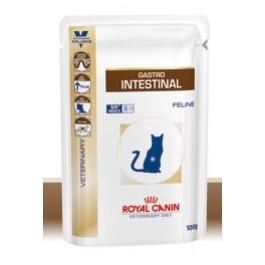 Royal Canin Veterinary Diet Cat Gastro Intestinal Sachet 12 x 100 grs - La Compagnie Des Animaux