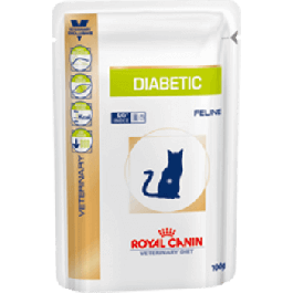 Royal Canin Veterinary Diet Cat Diabetic Sachet 12x100 grs - La Compagnie Des Animaux