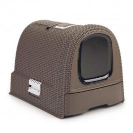 Maison de Toilette Curver Petlife Litter Box Moka - La Compagnie Des Animaux