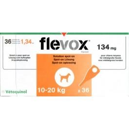 Flevox Chien 10-20kg 36 pipettes ( generique Frontline ) - La Compagnie Des Animaux