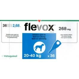 Flevox Chien 20-40kg 3 pipettes ( generique Frontline ) - La Compagnie Des Animaux