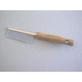 Peigne manche en bois Denture métal espacée 17.5 cm - La Compagnie Des Animaux