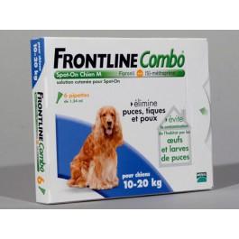 Frontline Combo Chien 10-20 kg 30 pipettes - La Compagnie Des Animaux