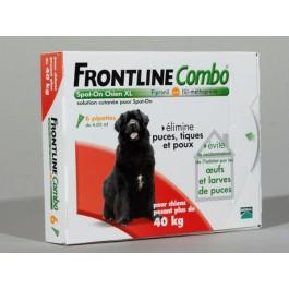 Frontline Combo Chien 40-60 kg 30 pipettes - La Compagnie Des Animaux