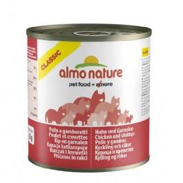 Almo Nature Chat Classic Poulet et Crevettes 12 x 280 grs - La Compagnie Des Animaux