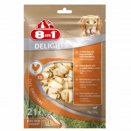 8in1 Delights Bone XS pour chien x 21 - La Compagnie Des Animaux