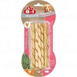 8in1 Twisted Sticks Porc XS pour chien x 10 - La Compagnie Des Animaux