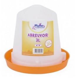 Plume & Compagnie Abreuvoir plastique 3 L - La Compagnie Des Animaux