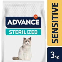 Advance Sterilized Sensitive Chat au saumon 3 kg - La Compagnie Des Animaux