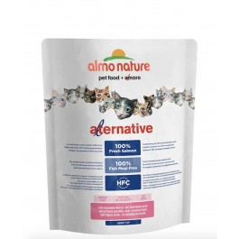 Almo Nature Alternative Chat Adulte Saumon et Riz 2 kg - La Compagnie Des Animaux