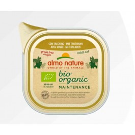 Almo Nature Bio Organic Maintenance avec Dinde pour chat 19 x 85 g