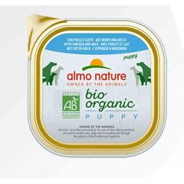 Almo Nature Chien Daily Menu Bio Puppy Poulet et Lait 9 x 300 grs - La Compagnie Des Animaux