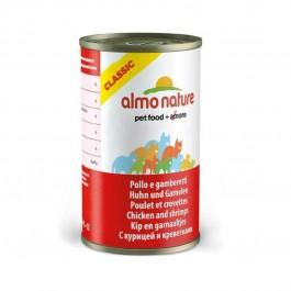 Almo Nature Chat Classic Poulet et Crevettes 24 x 140 grs - La Compagnie Des Animaux