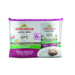 Almo Nature Chat Classic Value Pack Poulet et thon 6 x 55 grs - La Compagnie Des Animaux