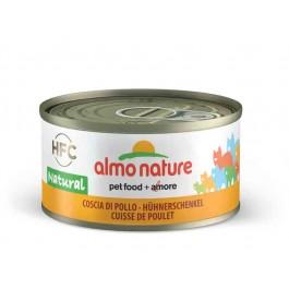 Almo Nature Chat Natural HFC Cuisse de Poulet 24 x 70 grs - La Compagnie Des Animaux