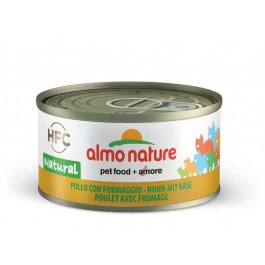 Almo Nature Chat Natural HFC Poulet avec Fromage 24 x 70 grs - La Compagnie Des Animaux