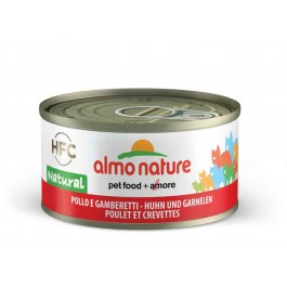Almo Nature Chat Natural HFC Poulet et crevettes 24 x 70 grs - La Compagnie Des Animaux