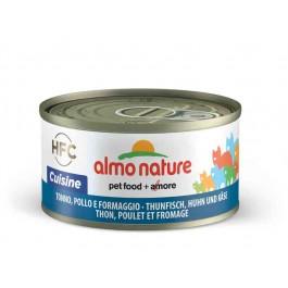 Almo Nature Chat Cuisine HFC Thon, Poulet et Fromage 24 x 70 grs - La Compagnie Des Animaux