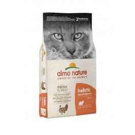 Almo Nature Chat Holistic Dinde et Riz 12 kg - La Compagnie Des Animaux