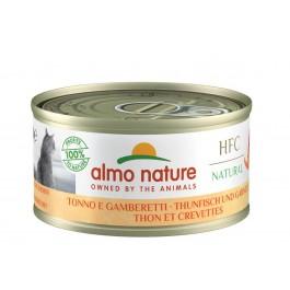 Almo Nature Chat Natural HFC Thon avec crevettes 24 x 70 grs - La Compagnie Des Animaux