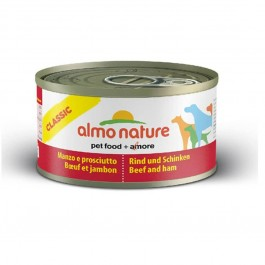 Almo Nature Chien Classic Boeuf et Jambon 24 x 95 grs - La Compagnie Des Animaux