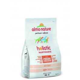 Almo Nature Chien Holistic Small Poulet et riz 2 kg - La Compagnie Des Animaux