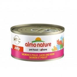 Almo Nature Chat Jelly HFC Saumon et Poulet 24 x 70 grs - La Compagnie Des Animaux