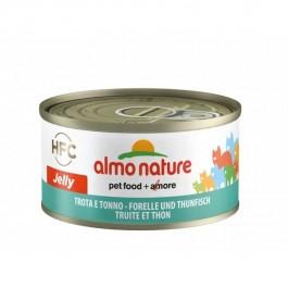 Almo Nature Chat Jelly HFC Truite et Thon 24 x 70 grs - La Compagnie Des Animaux