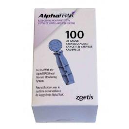 AlphaTRAK 100 lancettes stériles calibre 28 - La Compagnie Des Animaux