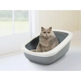 Bac à litière chat Savic Aseo Gris - La Compagnie Des Animaux