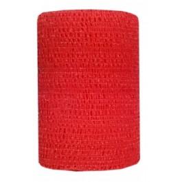 Bandes Cohésives 10 cm Rouge - La Compagnie Des Animaux