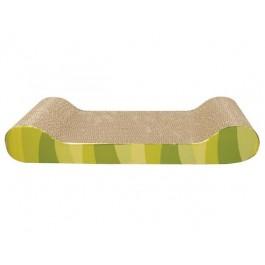 Griffoir Cat It Banc vert en carton 49 x 22 h 7.5 cm - La Compagnie Des Animaux