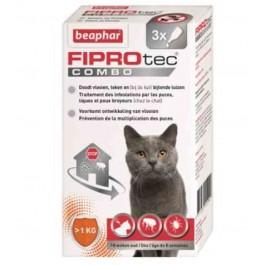Beaphar Fiprotec Combo chats et furets 3 pipettes - La Compagnie Des Animaux