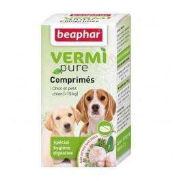 Beaphar Vermipure comprimés purge aux plantes pour chiot et petit chien 50 cps - La Compagnie Des Animaux