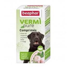 Beaphar Vermipure comprimés purge aux plantes pour moyen et grand chien + 15 kg 50 cps - La Compagnie Des Animaux