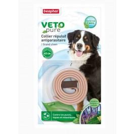 Beaphar VETOpure Collier répulsif antiparasitaire grand chien beige - La Compagnie Des Animaux