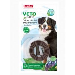 Beaphar VETOpure Collier répulsif antiparasitaire grand chien marron - La Compagnie Des Animaux